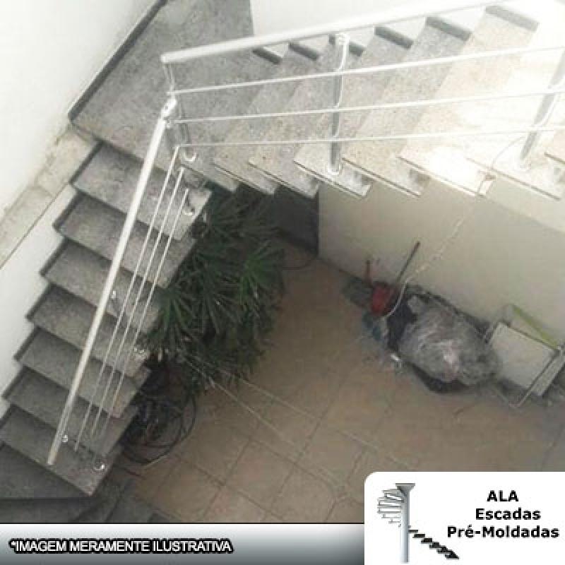 Comprar Escada Pré Fabricada em L com Patamar CECAP - Escada Pré Fabricada Reta com Descanso