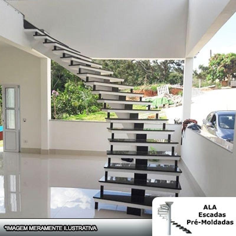 Empresa para Comprar Escada Pré Fabricada de Concreto Itapegica - Escada Pré Fabricada Reta com Descanso