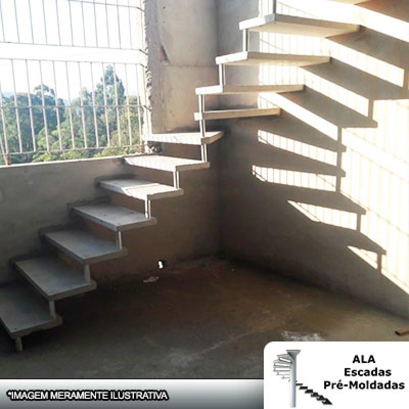 Empresa para Comprar Escada Pré Fabricada em L com Patamar Ribeirão Pires - Escada Pré Fabricada Reta de Concreto