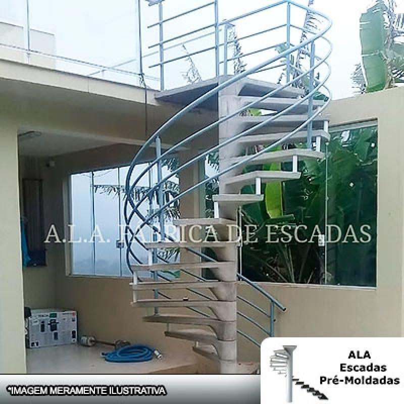 Escada Caracol com Corrimão Valores Guararema - Escada Caracol com Corrimão