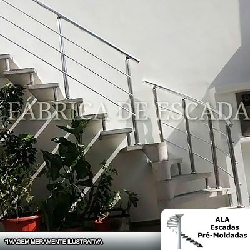 Escada Pré Fabricada Concreto Valor Santo André - Escada Pré Fabricada em L com Patamar