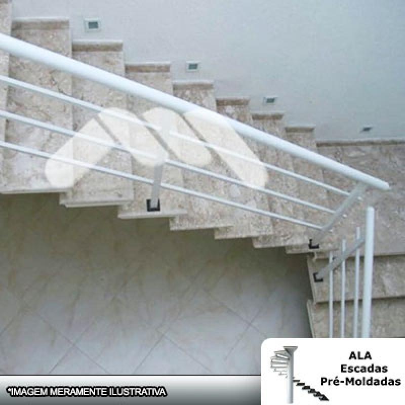 Escada Pré Fabricada em L com Patamar Mauá - Escada Pré Fabricada Concreto