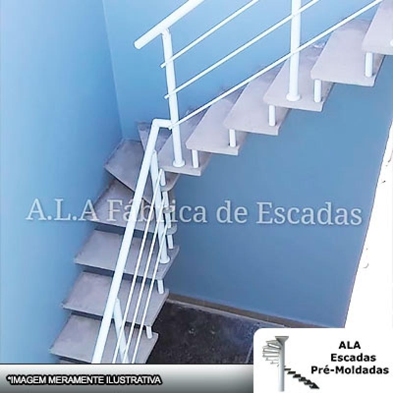 Escada Pré Fabricada em U L J ABC Paulista - Escada Pré Fabricada