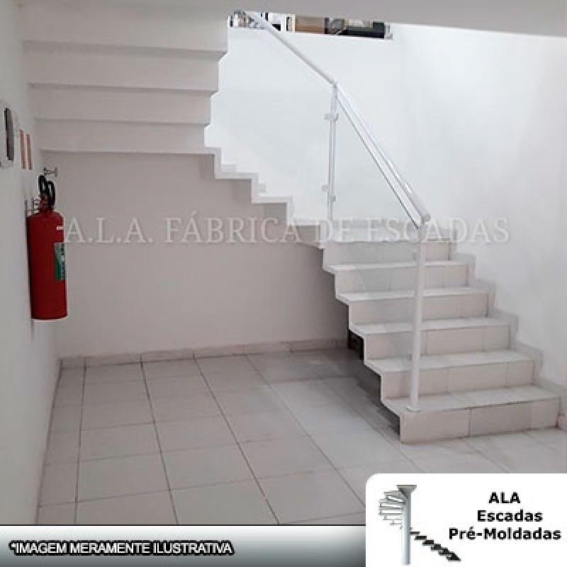 Escada Pré Fabricada Preço Gopoúva - Escada Pré Fabricada em L com Patamar