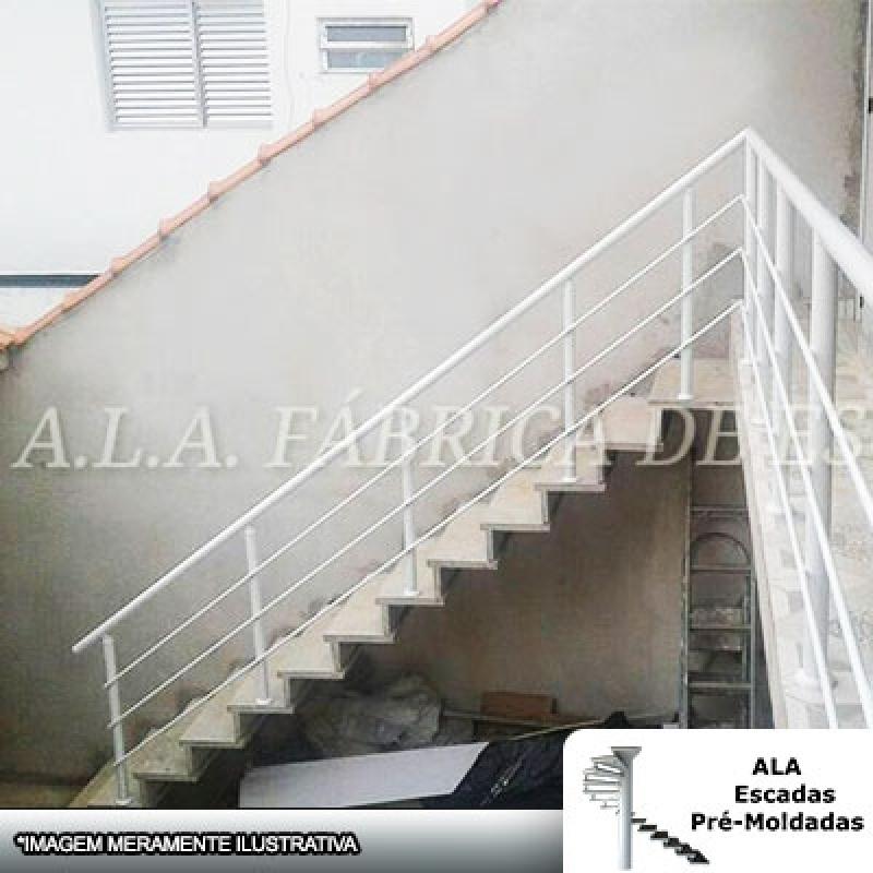 Escada Pré Fabricada Predial Bragança Paulista - Escada Pré Fabricada em L com Patamar