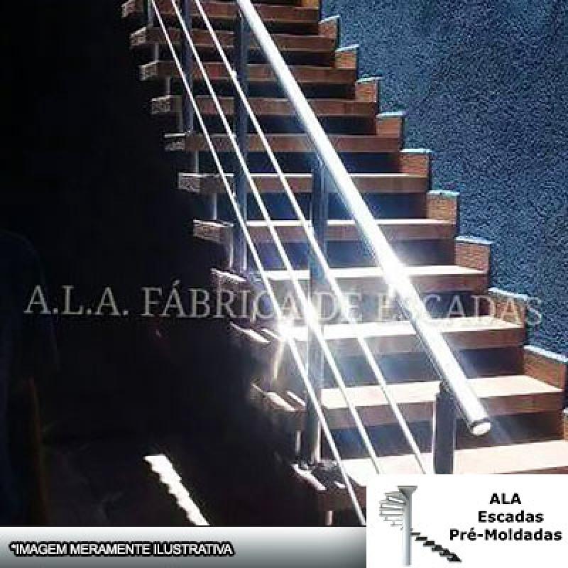 Escada Pré Fabricada Reta com Descanso Preço Atibaia - Escada Pré Fabricada