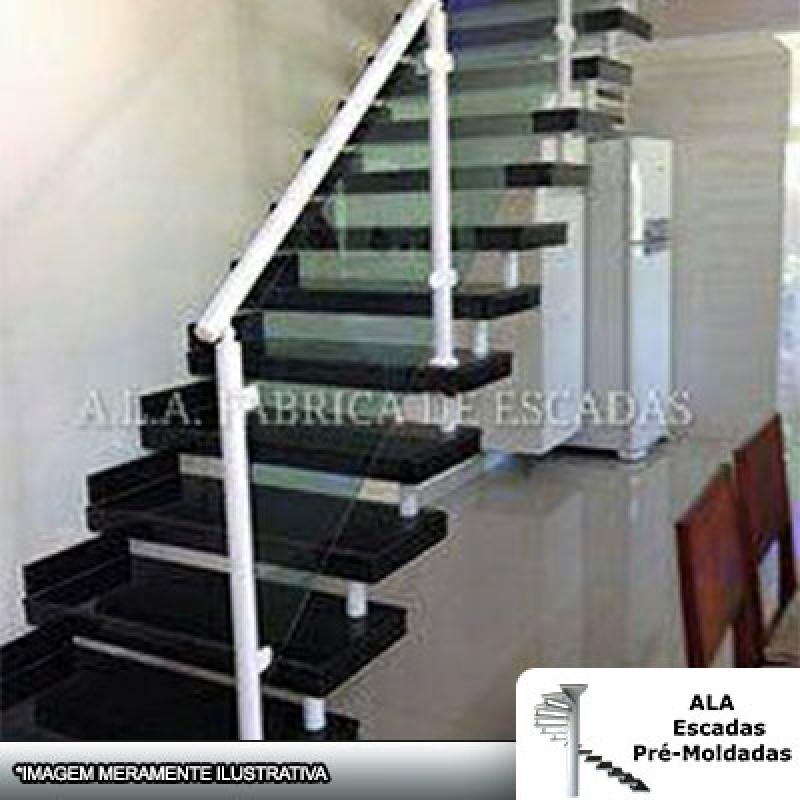 Escada Pré Fabricada Santo André - Escada Pré Fabricada em L com Patamar