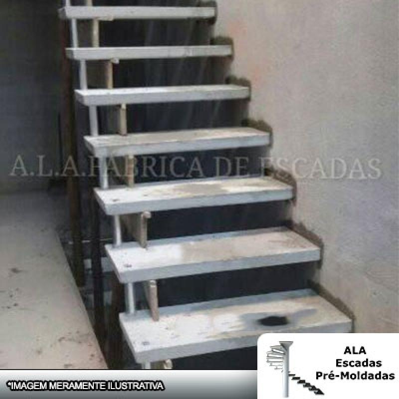 Escada Pré Moldada Reta Valores Vila dos Telles - Escada Pré Moldada com Piso