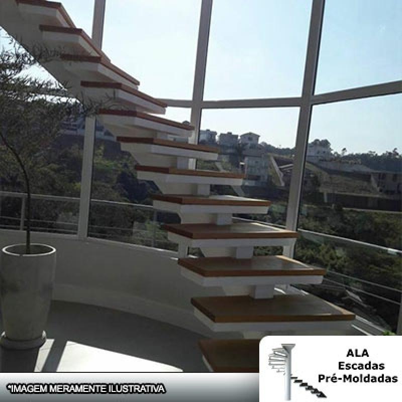 Escada Pré Moldada Viga Central Jardim Nazaret - Escada Pré Moldada com Piso