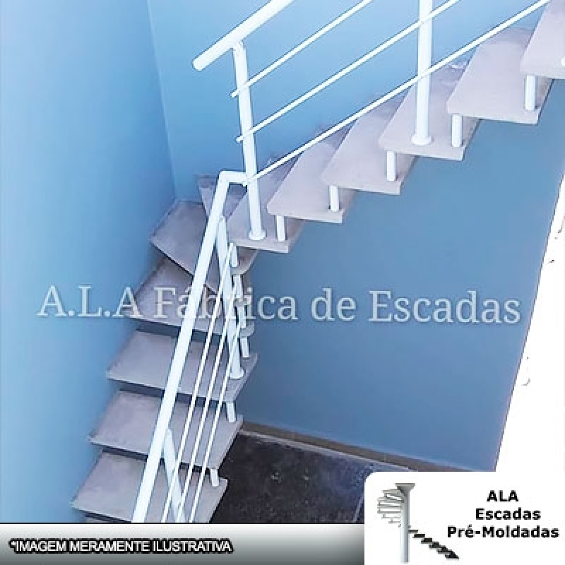 Escada Pré Moldada Monte Carmelo - Escada Pré Moldada com Piso