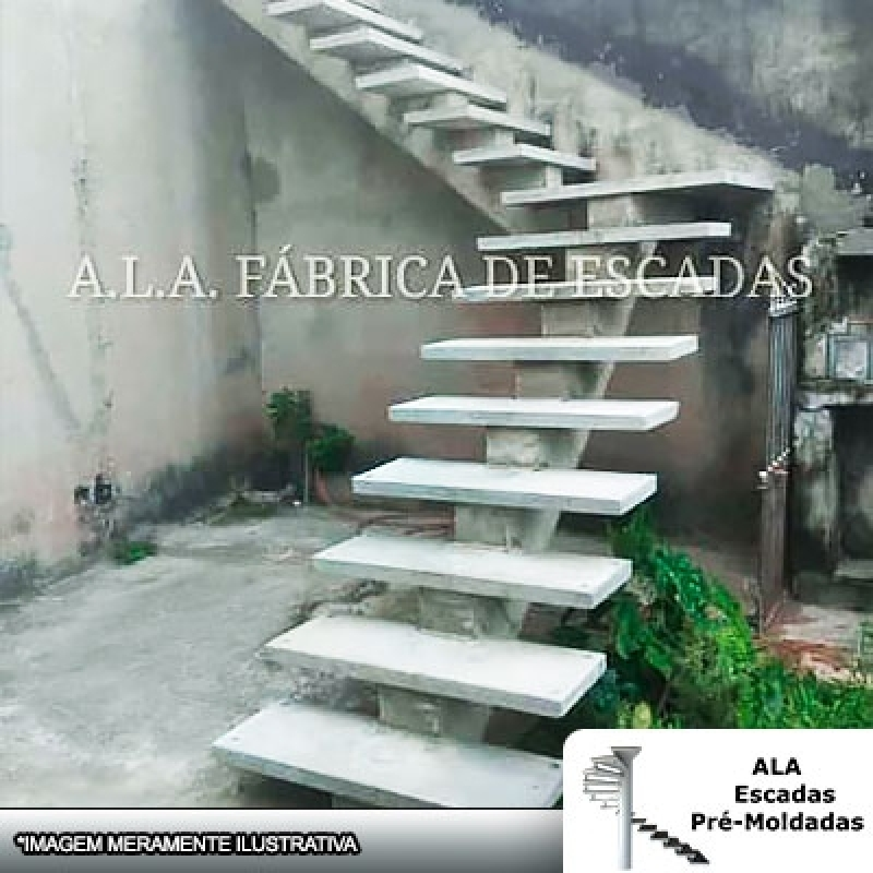 Escadas Pré Moldadas áreas Externas Parque Cecap - Escada Pré Moldada área Externa