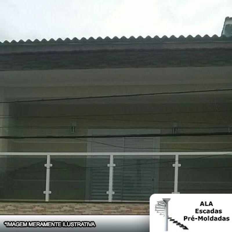 Guarda Corpo Alumínio com Vidro Fumê Ferraz de Vasconcelos - Guarda Corpo Alumínio com Vidro Fumê
