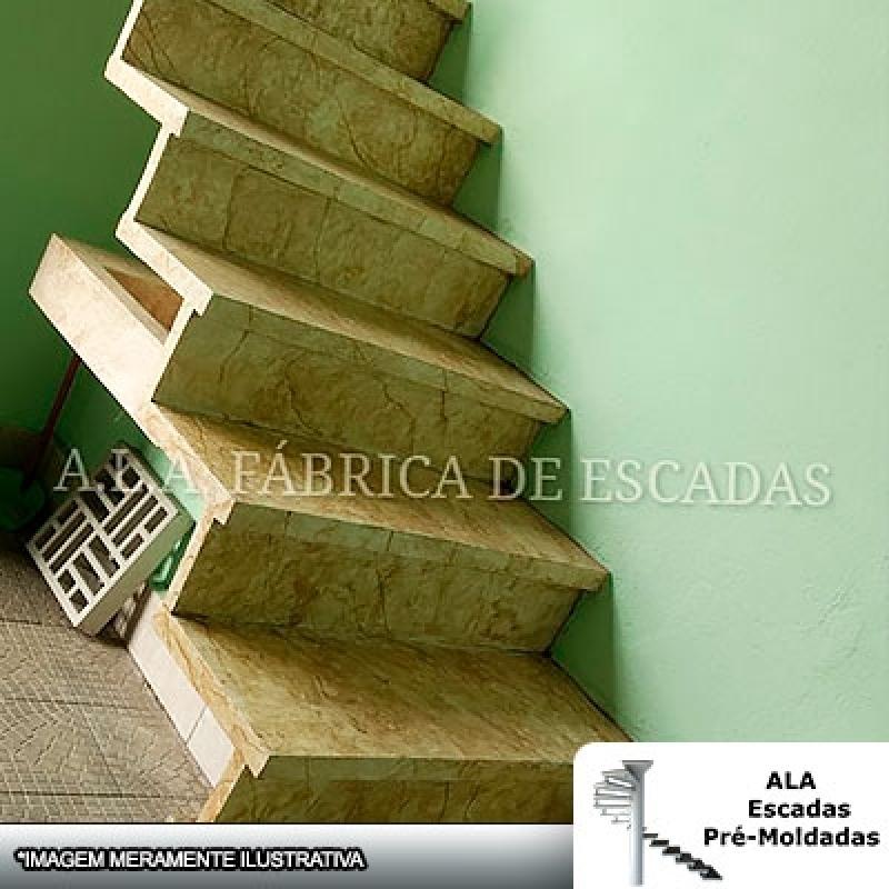 Loja de Escada L Jacaré Bom Clima - Escada em L de Alvenaria