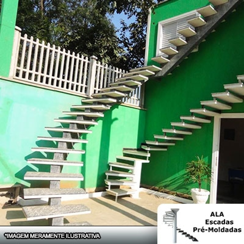 Orçamento para Escada Pré Moldada área Externa Bom Clima - Escada Pré Moldada com Piso