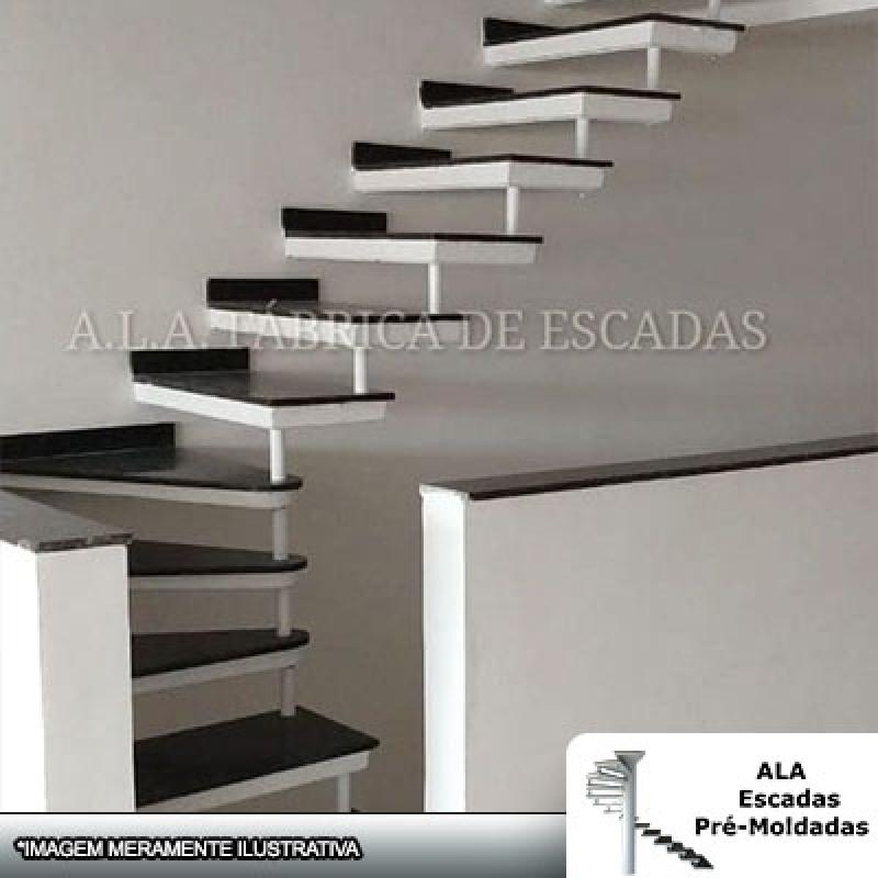 Orçamento para Escada Pré Moldada com Mármore Guararema - Escada Pré Moldada com Piso