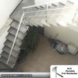 comprar escada pré fabricada em l com patamar Poá