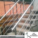 corrimão de alumínio para escada externa valor Vila dos Telles