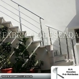 corrimão de escada em ferro galvanizado Itapegica