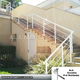 corrimão em ferro galvanizado para escadas Atibaia