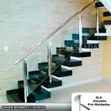 corrimão de escada de ferro galvanizado em empresas