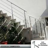 corrimão de escada em ferro galvanizado