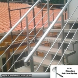 corrimãos de ferro galvanizado para escada Embu das Artes