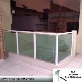 empresa de guarda corpo alumínio com vidro verde CECAP