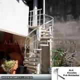 escada caracol com corrimão de alumínio valores Vila Augusta