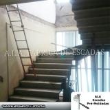 escada em u em leque Carapicuíba