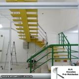 escada espinha de peixe de concreto Guararema