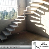 escada pré fabricada de concreto valor Vila Barros