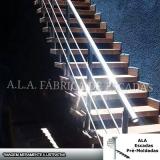 escada pré fabricada reta com descanso preço Jandira