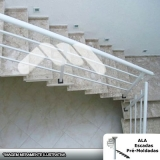 escada pré fabricada reta com descanso valor Franco da Rocha