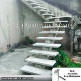 escada pré moldada com viga central valores Recanto Bom Jesus
