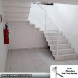 escada pré moldada revestida valores Bom Clima