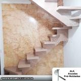 escada pré moldada viga central valores Franco da Rocha
