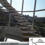 escada pré moldada viga central Água Azul