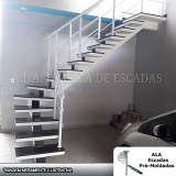 escada em l de concreto