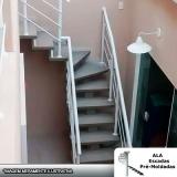escada escama de peixe concreto