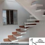 escadas pré moldadas vigas centrais Água Azul