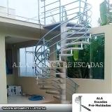 fabricante de corrimão de escada de ferro galvanizado em empresas Maia