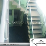 fabricante de corrimão de escada de ferro galvanizado Jardim Aracília