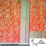 moldura de concreto para muro