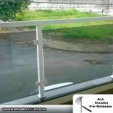 onde vende guarda corpo alumínio com vidro fumê Parque Cecap