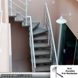 orçamento para escada pré moldada viga central Barueri