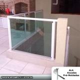preço de corrimão alumínio com vidro verde Mauá