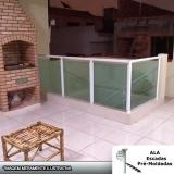 valor de corrimão alumínio com vidro fumê Parque Cecap