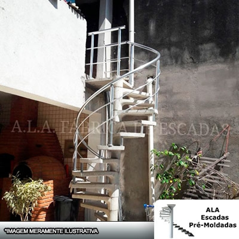 Venda de Escada Caracol Modulada em Concreto Vila Ristori - Escada Caracol com Corrimão